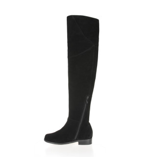 Arden Furtado new style small size 30-33 big size 40-45 genuine leather suede flat over the knee boots customize the shaft size