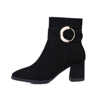 Arden Furtado 2017 winter fashion ankle boots for woman chunky high heels 6cm matin boots women keep warm plush boot new style