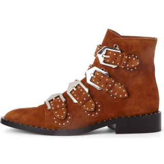 Arden Furtado new winter genuine leather flat ankle boots chelsea fashion shoes woman buckle shoes plush boots 40-45 small size