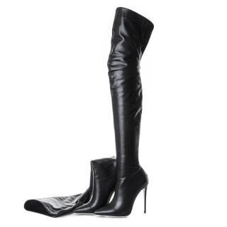 spring autumn winter boots high heels 12cm stilettos boots sexy fashion shoes woman back zipper thigh high boots