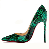 new style slip on shoes stilettos heels pumps high heels 12cm sexy lady fashion flowers shoes large size 40-45