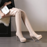 Spring autumn winter over the knee boots platform boots Stretch boots high heels stiletto heels 11cm big size women shoes