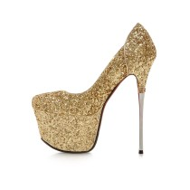 Arden Furtado 2018 spring autumn ankle strap fashion woman shoes women high heels 16cm stilettos pumps sequined cloth wedding shoes bling bling sexy party shoes