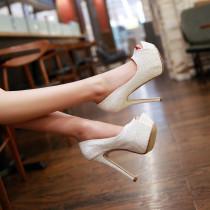 Arden Furtado 2018 spring bling bling fashion woman shoes women peep toe stilettos high heels 14cm platform party shoes wedding