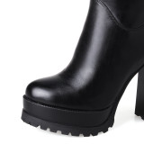 2018 winter fashion boots over the knee platform red boots big size 40-43 high heels 11cm