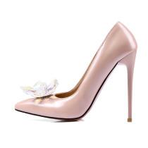 2018 spring autumn fashion shoes crystal rhinestone flowers wedding shoes big size 40-43 high heels 11cm