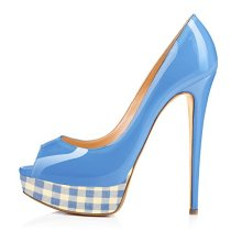 Arden Furtado 2018 spring summer sexy high heels 15cm fashion shoes women slip on platform stilettos night club shoes peep toe pumps