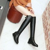Arden Furtado 2018 spring new style fashion shoes for woman over the knee boots wedges zipper boots