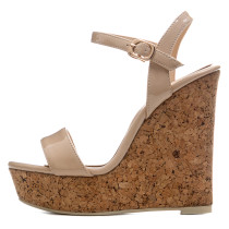 Arden Furtado 2018 summer new style shoes woman buckle strap wedges platform open toe girls green fashion yellow sandals big size 33 40 41