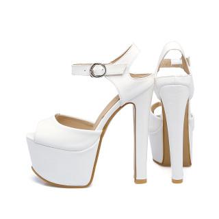 Arden Furtado summer fashion Platform sandals sexy high heels 16cm wedding shoes Chunky heels shoes