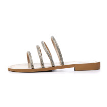 Arden Furtado 2018 summer flats bling bling gladiator slides gold silver slippers big size 40-47 fashion woman shoes for ladies