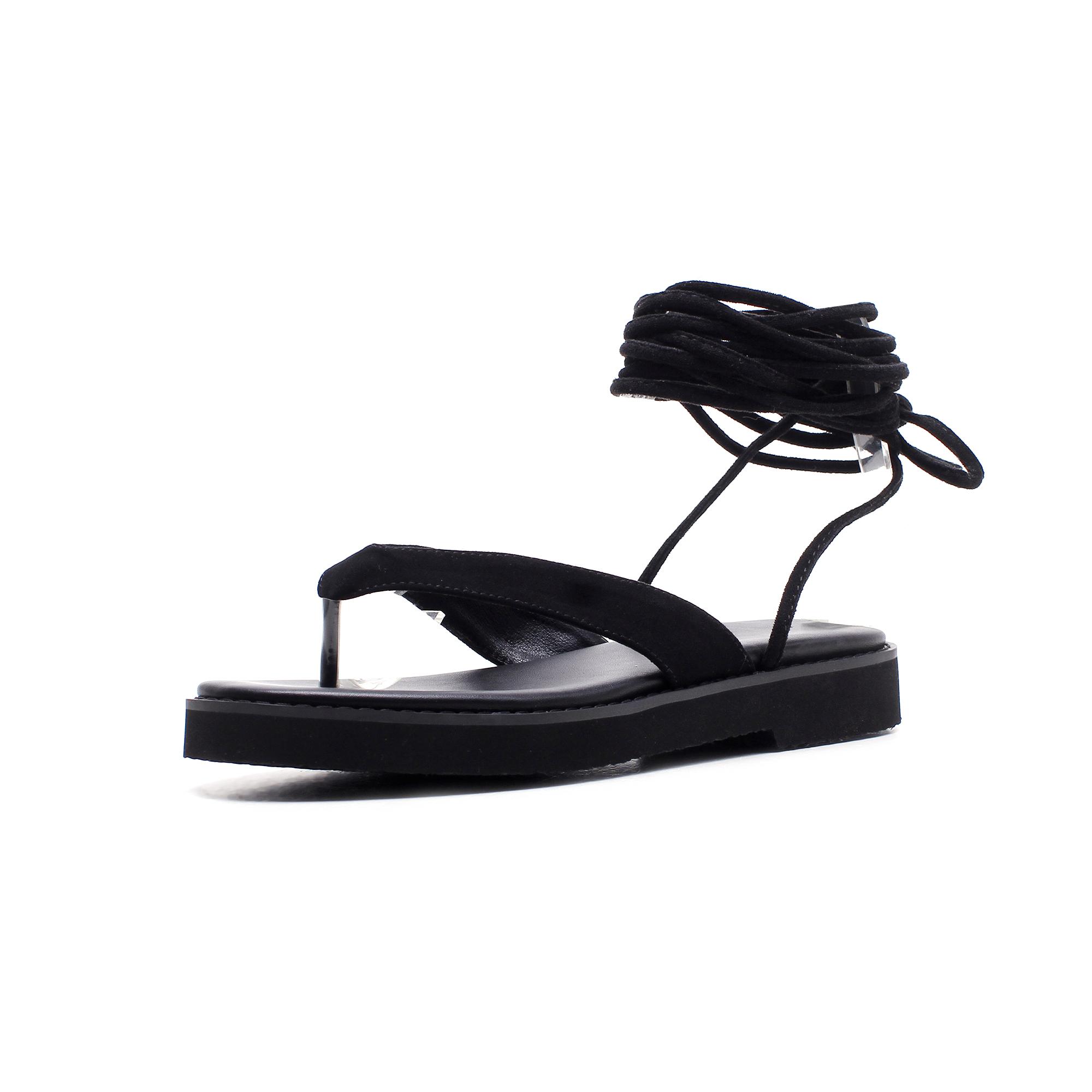 d9656dbc75748 Arden Furtado 2018 summer flats flip-flops platform fashion sandals shoes  for woman genuine suede gladiator sandals ladies shoes Item NO  GS5164
