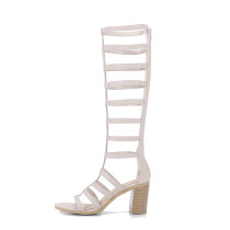 Arden Furtado 2018 summer shoes for woman ladies genuine leather fashionsandals gladiator sandals zipper casual knee high boots