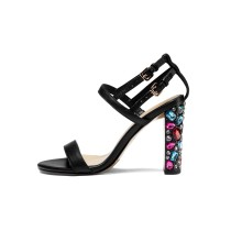 Arden Furtado summer high crystal heels 10cm buckle strap flowers cover heels gold sexy sandals shoes for woman small size 33 40