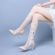 summer high heels 9cm platform peep toe buckle strap size 33 genuine leather crystal butterfly knot lace wedding shoes