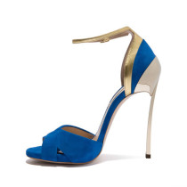 Arden Furtado summer stilettos blue buckle ankle strap sexy high heels 12cm peep toe fashion sandals big size party shoes