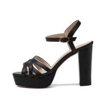 Arden Furtado summer 2019 fashion trend women's shoes joker chunky heels classics pure color sandals waterproof