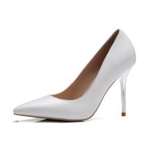 Arden Furtado 2018 spring autumn slip on fashion yellow pumps stilettos genuine leather white office lady shoes ladies
