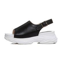Arden Furtado summer 2019 fashion trend women's shoes pure color white  sandals leather concise classics leisure