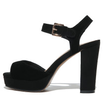 Arden Furtado summer 2019 fashion trend women's shoes pure color chunky heels peep toe sandals buckle