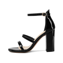 Arden Furtado summer 2019 fashion trend women's shoes chunky heels sexy narrow band sandals buckle office lady classics  small size 33 big size 40