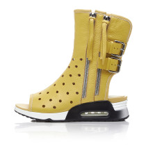2018 luxury genuine leather flat yellow white casual gladiator wedges sandals summer boots
