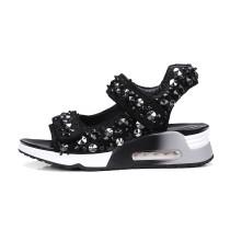 Arden Furtado summer 2019 fashion trend women's shoes pure color narrow band  big size 40 concise mature classics leisure sandals