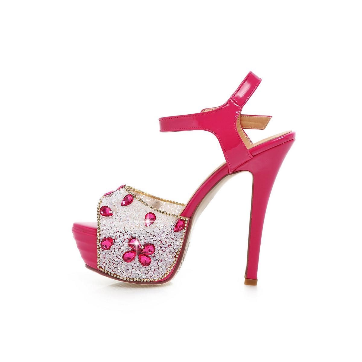 Us 43 2018 Sumer High Heels 14cm Stilettos P Toe Platform Lace Up Sandals Crystal Wedding Shoes Www Ardenfurtado