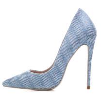 2018 stiletto pumps high heel 12cm blue party shoes big size shoes women's small size 33