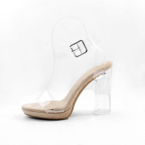 Women's Shoes PVC(Polyvinyl chloride) Summer / Fall Light Up Shoes / Club Shoes Heels Crystal Heel