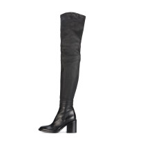 2018 winter over the knee high boots plush square heels 7cm genuine leather customize the shaft size