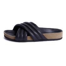Women's Shoes genuine leather Spring & Summer Comfort Slippers & Flip-Flops Flat Heel open Toe