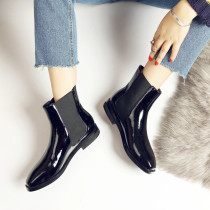 Arden Furtado spring autumn ladies shoes woman flat chelsea boots blue fashion elastic ankle boots ladies matin booties