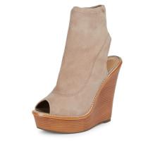 2018 summer high heels 14cm platform peep toe wedges sandals casual shoes woman