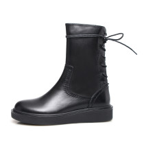 Arden Furtado 2018 spring autumn zipper round toe ankle boots chunky heels boots