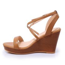 Arden Furtado 2018 summer high heels platform peep toe wedges sandals