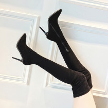 spring autumn sexy high heels fashion woman's shoes over the knee Stretch boots stilettos rivets thigh boots