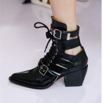 women's shoes cross tied summer ankle boots gladiator genuine leather casual shoes woman big size sandals