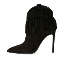 Stiletto Boots Suede Pointy Toe Heeled Booties for Women