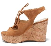 cork wedges platform high heels lace up brown sandals shoes for woman ladies casual rome sandals