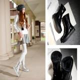 Arden Furtado winter round toe woman shoes ladies silver flat platform waterproof snow boots