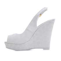 summer high heels 12CM platform peep toe wedges sing back strap sandals party bridesmaid shoes woman wedding shoes