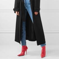 Arden Furtado spring autumn zipper stilettos high heels 11cm pointed toe red ankle boots fashion shoes
