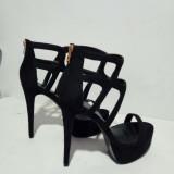 2018 summer high heels 15CM stilettos cage sandals platform peep toe women's shoes summer boots