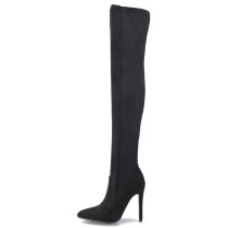 Arden Furtado 2018 spring autumn sexy stilettos party shoes ladies  pointed toe  over the knee high boots