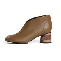 Arden Furtado 2018 spring autumn chunky heels boots round toe