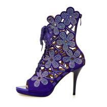 Arden Furtado 2018 spring autumn  cross tied peep toe sexy stilettos party shoes ladies