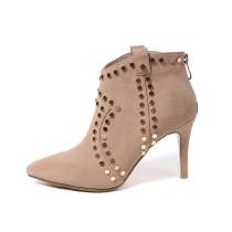 Arden Furtado 2018 spring autumn  pointed toe ankle boots sexy stilettos party shoes ladies