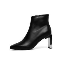 Arden Furtado 2018 spring autumn zipper Square toe woman shoes ladies