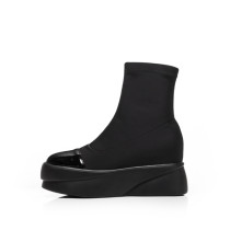 Arden Furtado 2018 spring autumn round toe ankle boots woman shoes ladies